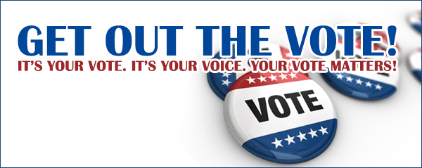 get out the vote banner